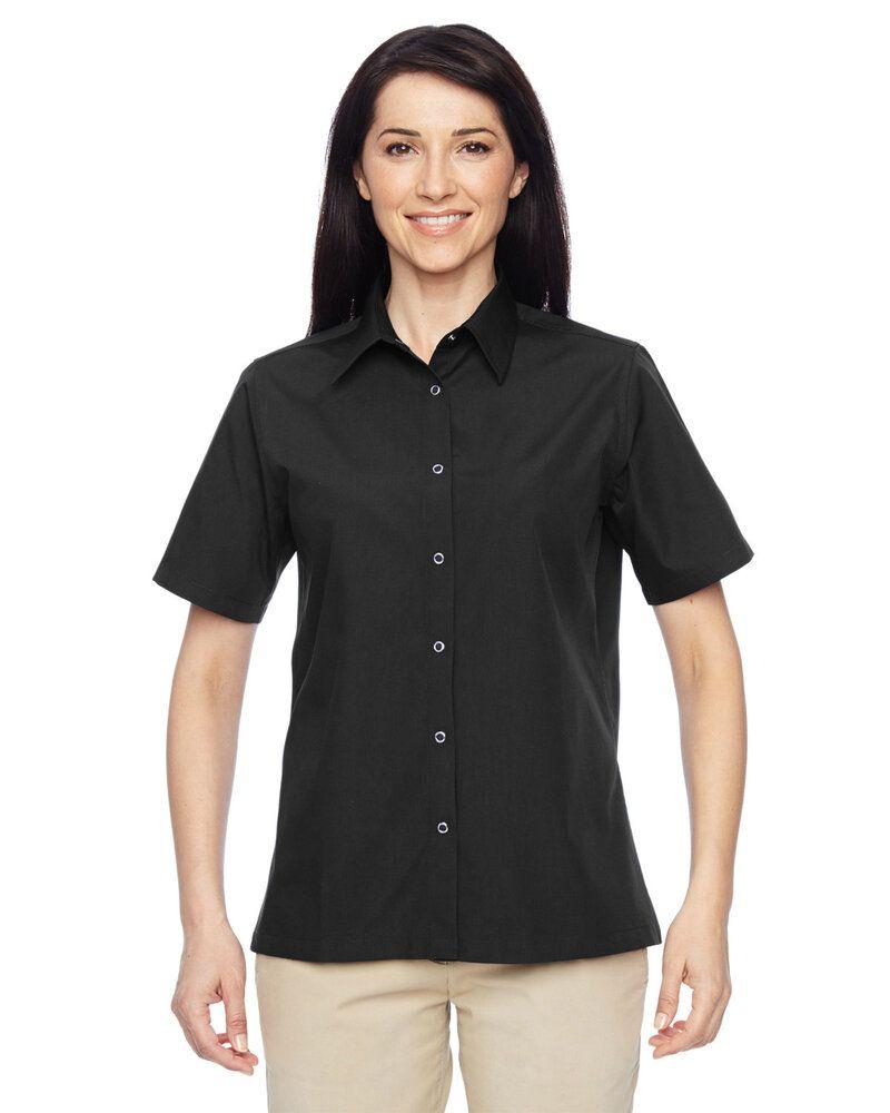 Harriton M545W - Ladies Advantage Snap Closure Short-Sleeve Shirt