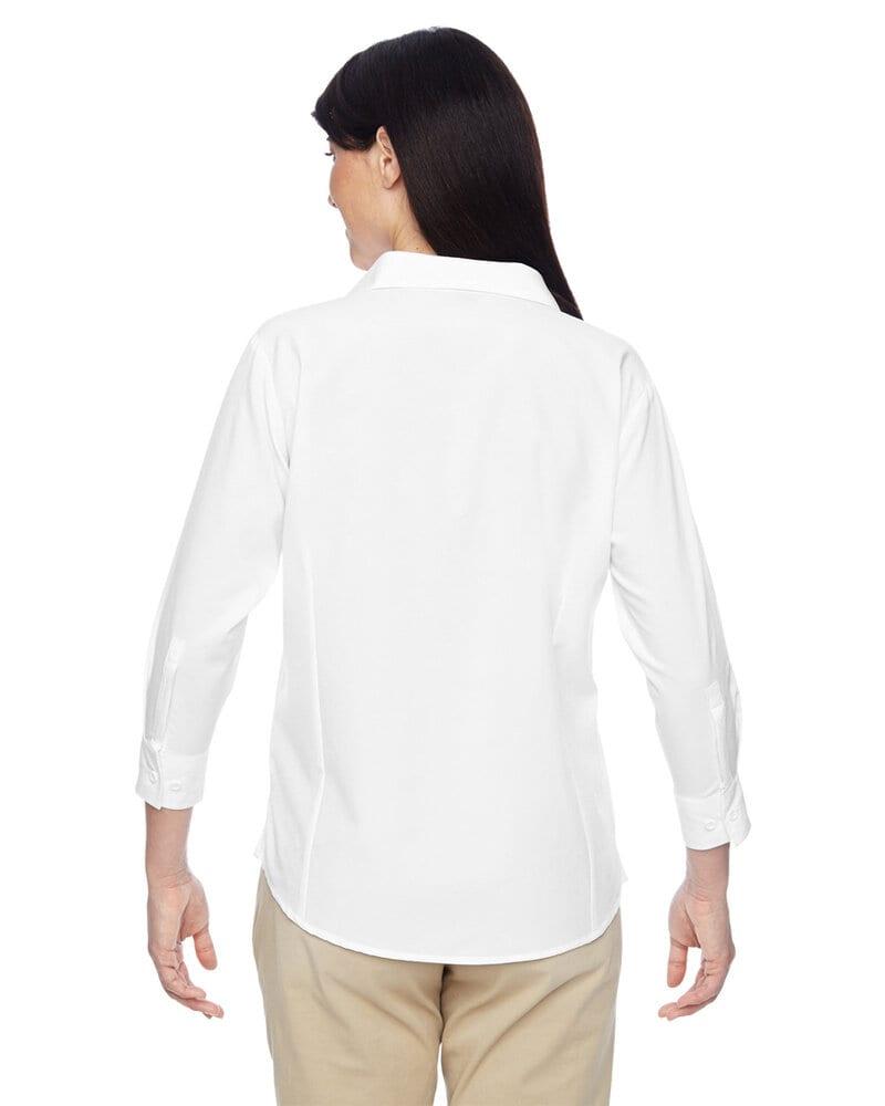 Harriton M610W - Ladies Paradise Three-Quarter Sleeve Performance Shirt