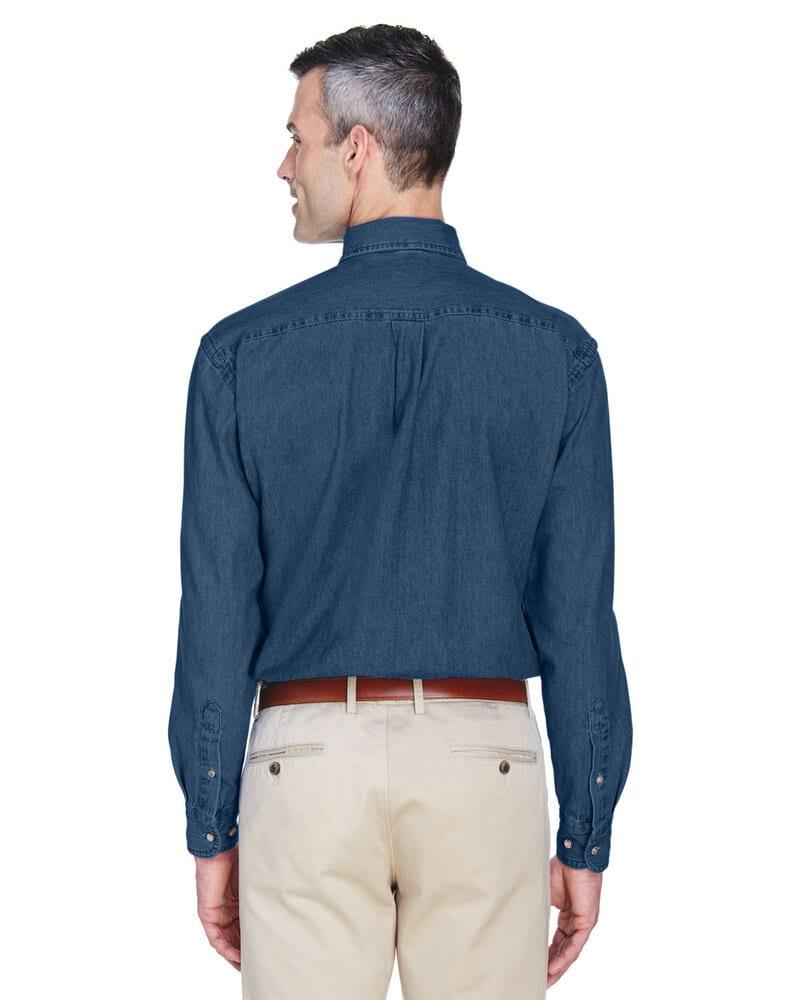 Harriton M550T - Men's Tall Short-Sleeve Denim Shirt