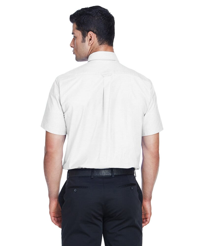 Harriton M600S - Men's Short-Sleeve Oxford with Stain-Release