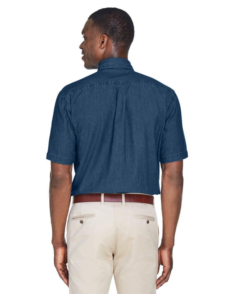 Harriton M550S - Men's 6.5 oz. Short-Sleeve Denim Shirt