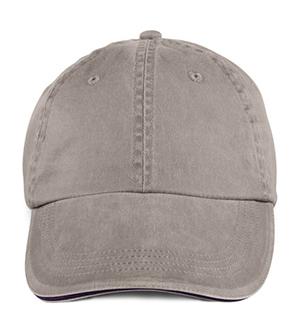 Anvil 166 - Gorra de sarga teñida con pigmento de perfil bajo liso