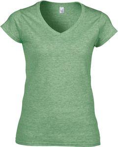 Gildan GI64V00L - T-shirt Mulher Gola V 64V00L Soft Style