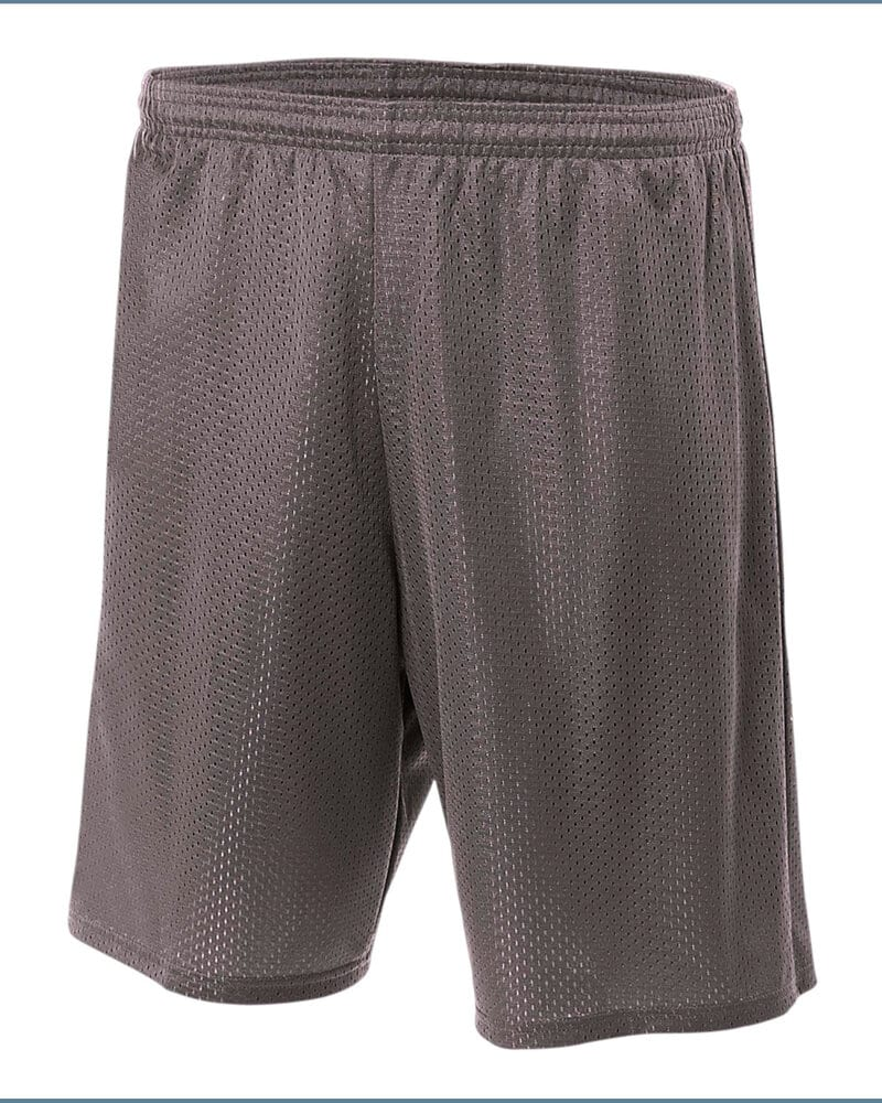 "A4 N5293 - Shorts de malla de tricot con forro de entrepierna de 7"" para adultos"