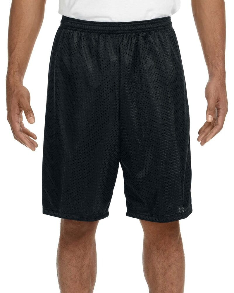 """A4 N5296 - Lined 9"""" Inseam Tricot Mesh Shorts"""