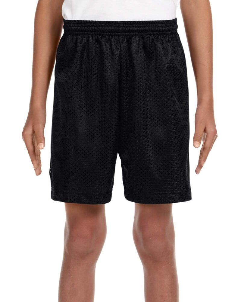 """A4 NB5301 - Youth 6"""" Inseam Lined Tricot Mesh Shorts"""