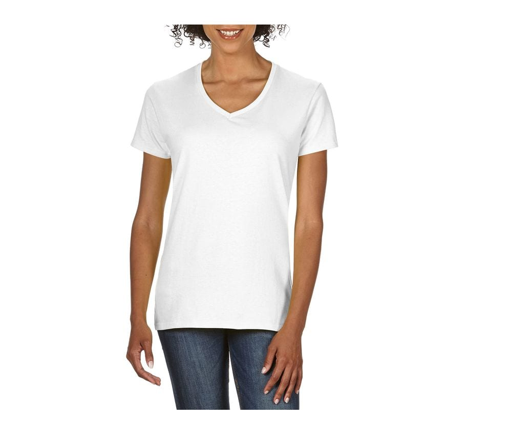 Gildan GN412 - T-Shirt Col V Femme 100% Coton
