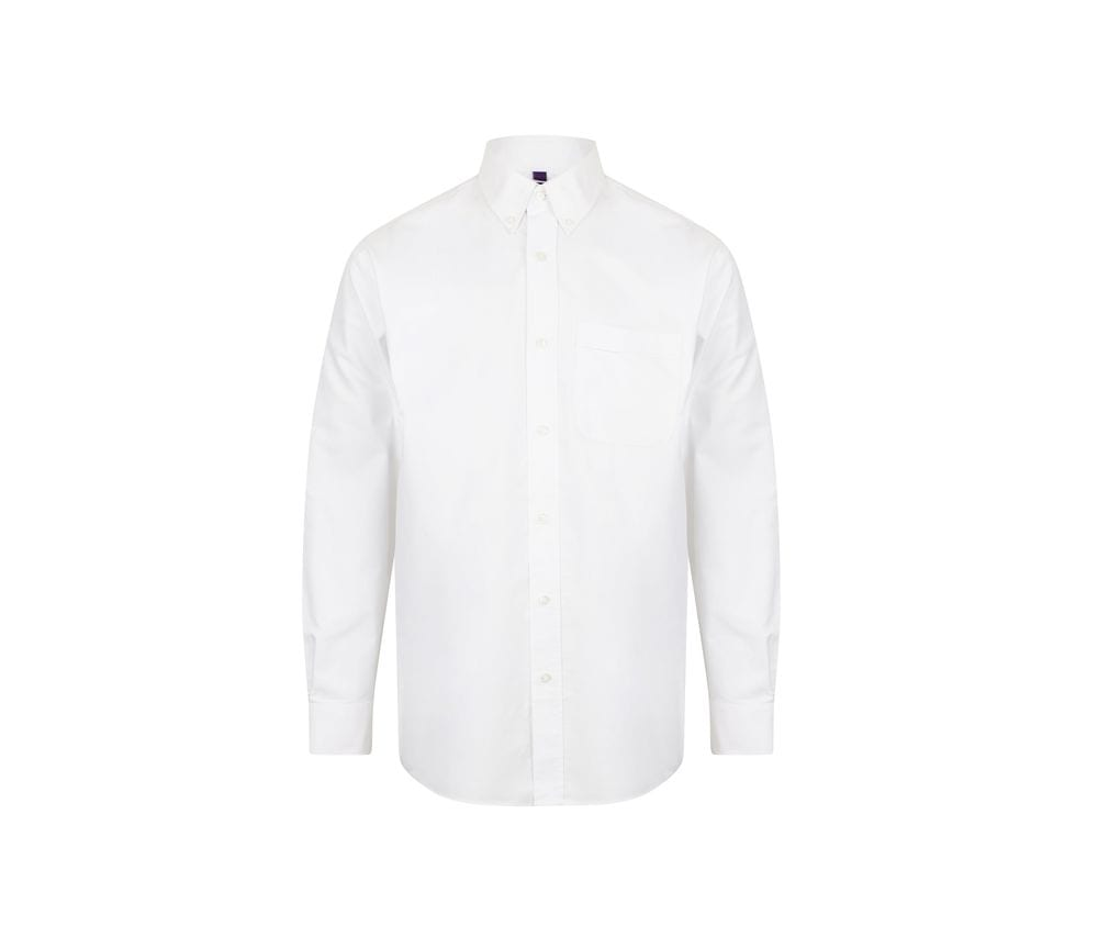 Henbury HY510 - Long sleeved classic Oxford shirt