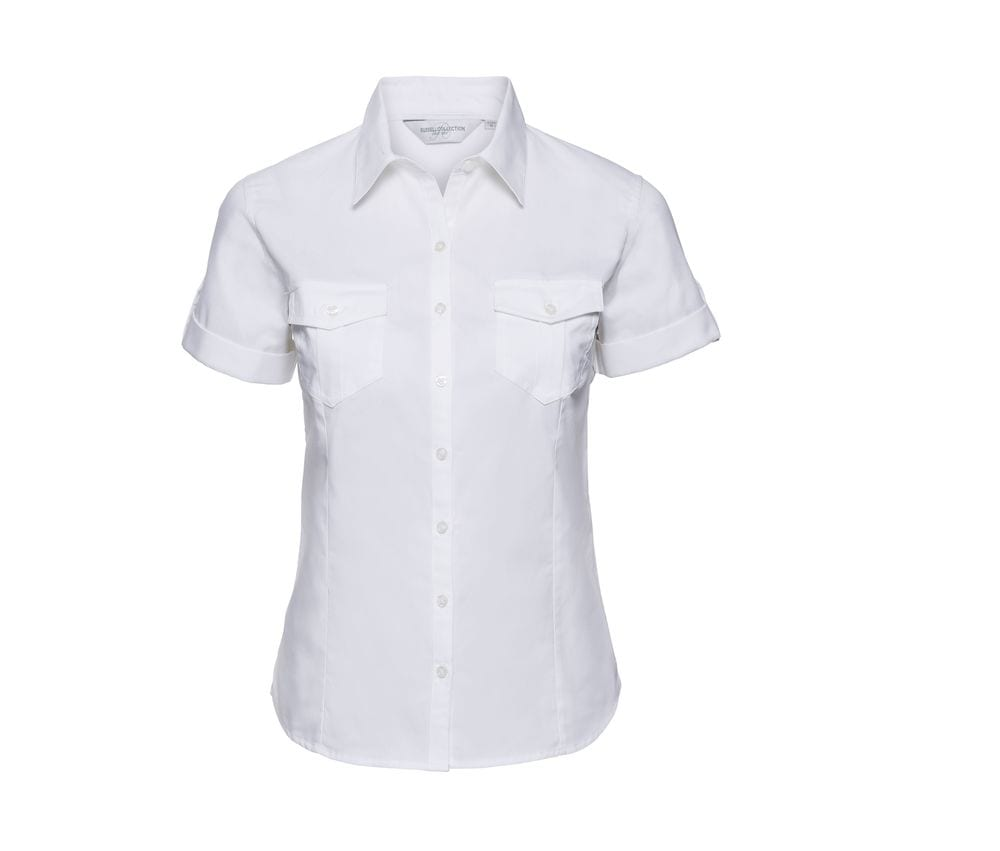 Russell Collection JZ19F - Ladies` Roll Sleeve Shirt