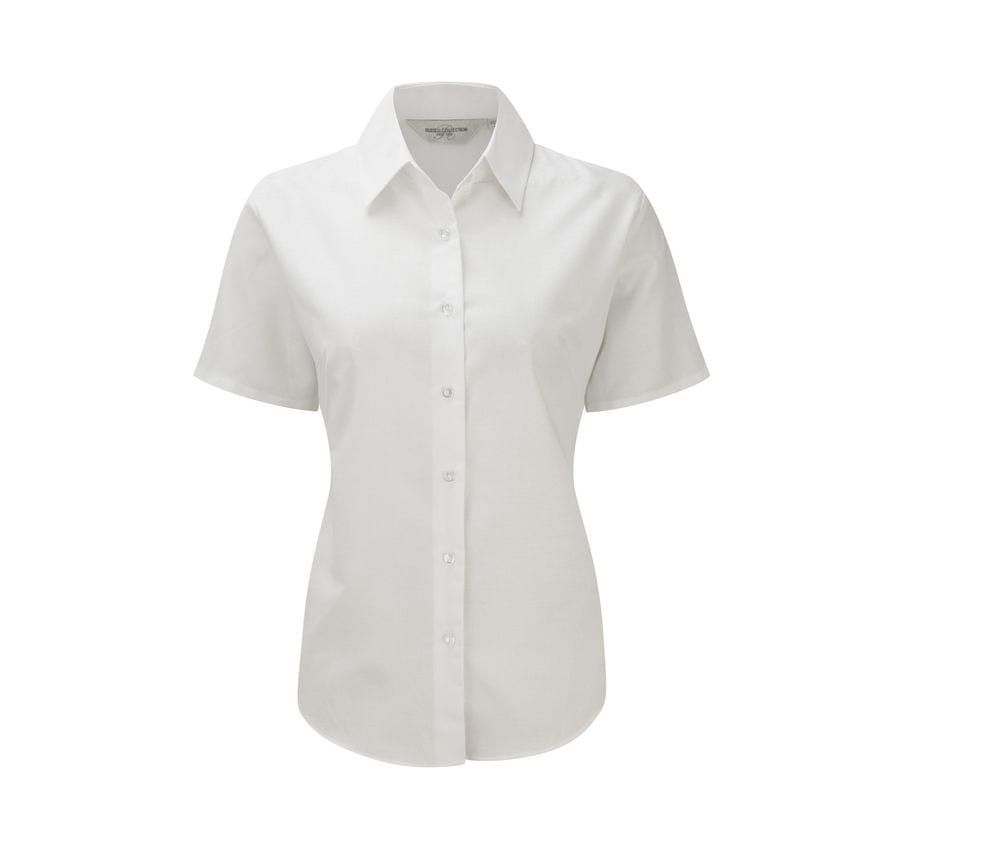 Russell Collection JZ33F - Short Sleeve Easy Care Oxford Shirt