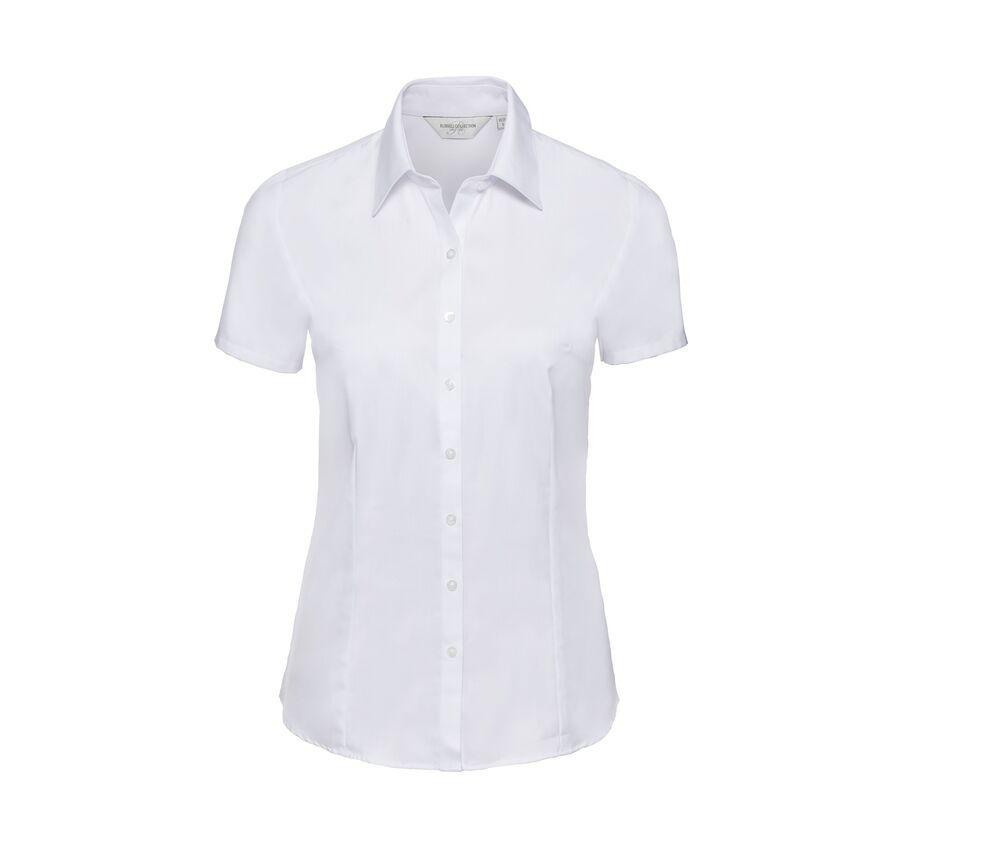 Russell Collection JZ63F - Ladies' Short Sleeve Herringbone Shirt