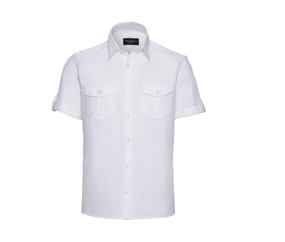 Russell Collection JZ919 - Roll Sleeve Shirt - Short Sleeve