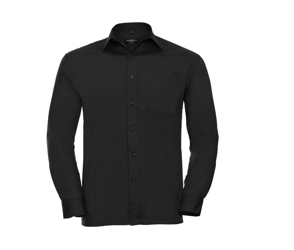 Russell Collection JZ934 - Long Sleeve Polycotton Easy Care Poplin Shirt