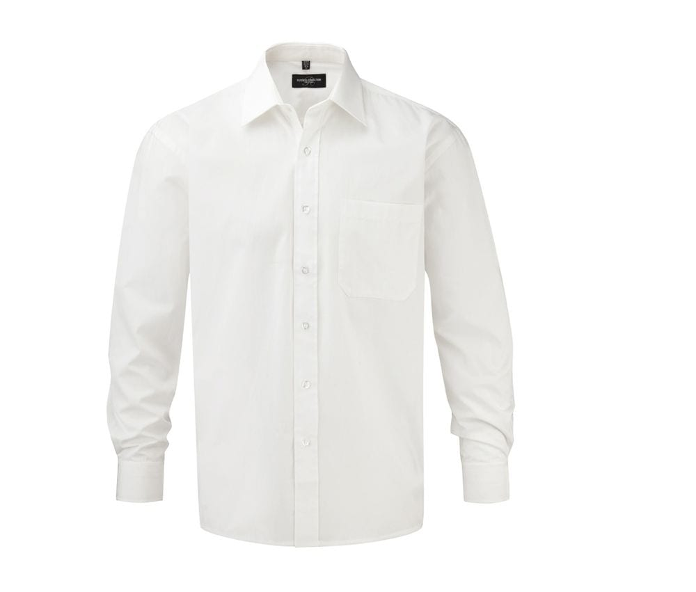 Russell Collection JZ936 - Long Sleeve Pure Cotton Easy Care Poplin Shirt