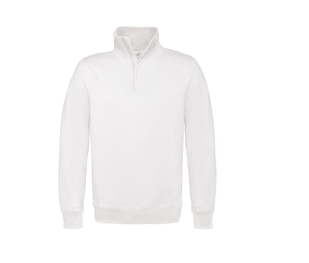B&C BCID4 - Sweatshirt Col Zippé Homme
