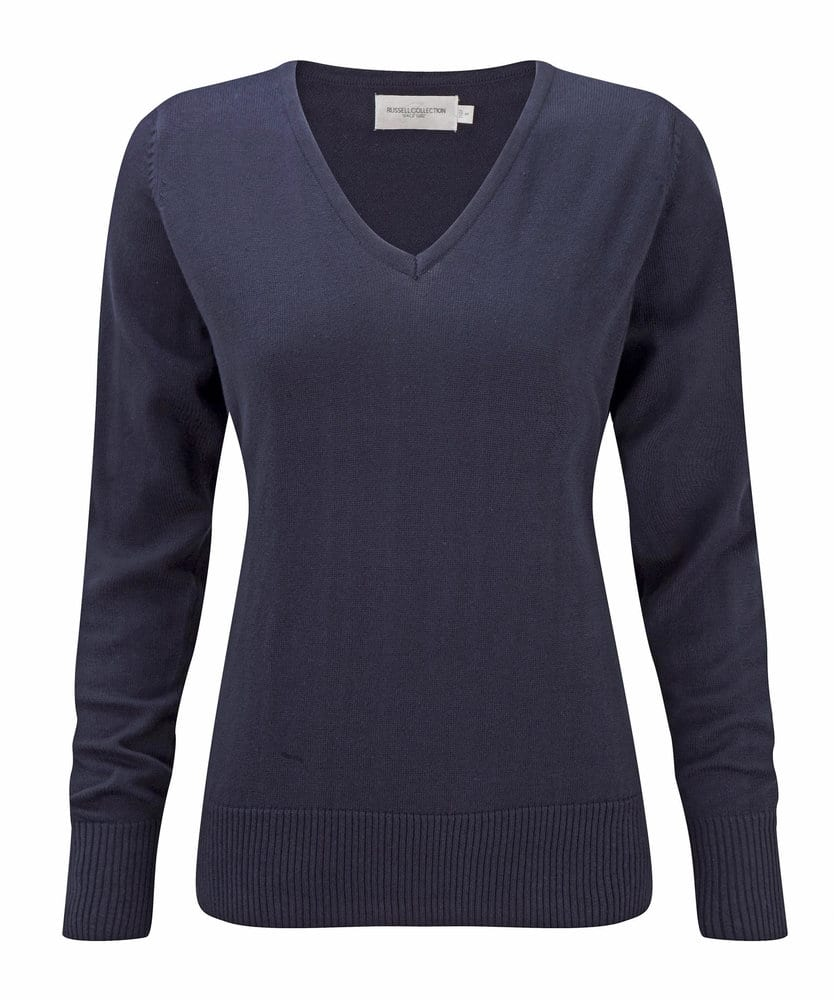 Russell Collection JZ10F - Sweat-Shirt Femme Col V