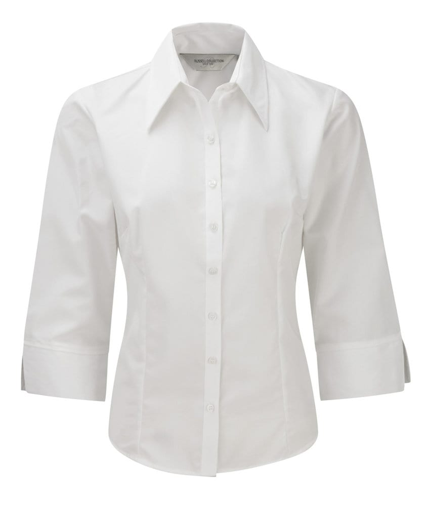 Russell Collection JZ54F - Ladies' 3/4 Sleeve Tencel® Fitted Shirt