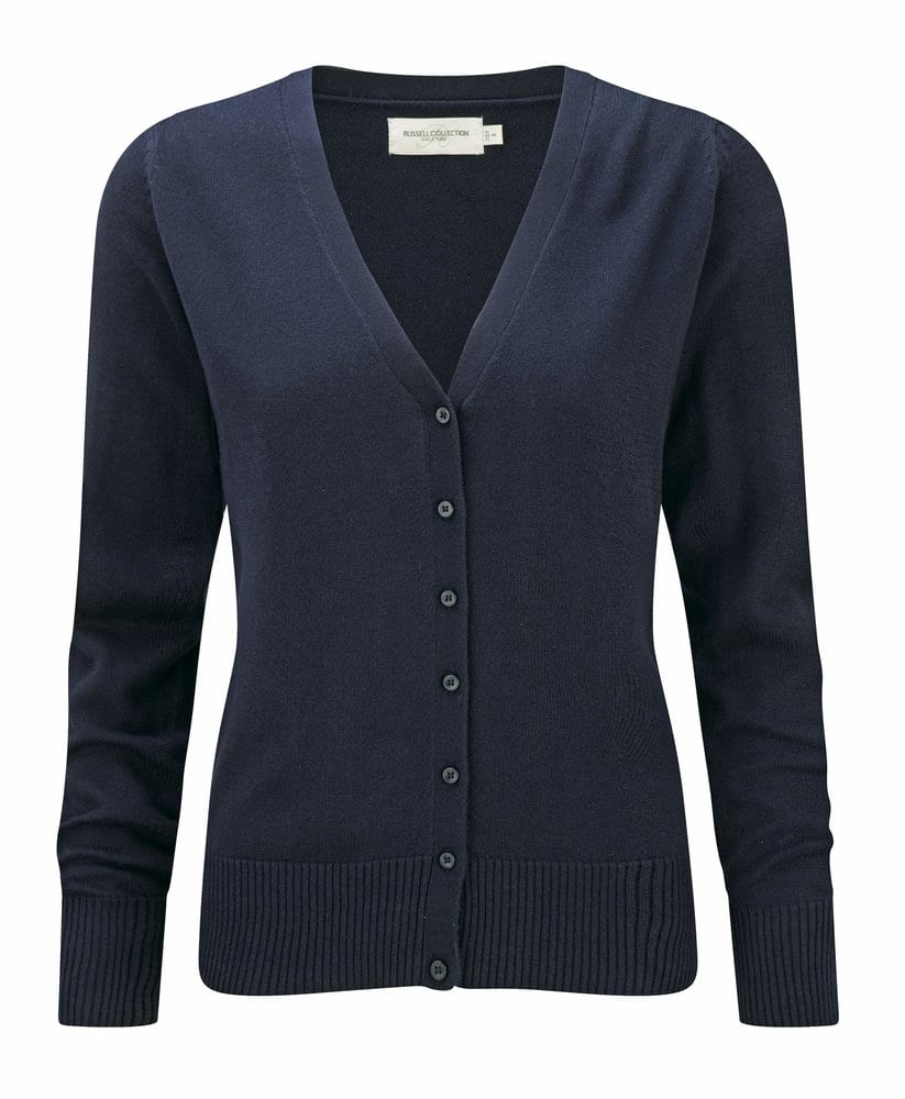 Russell Collection JZ715 - V-Neck Knitted Cardigan