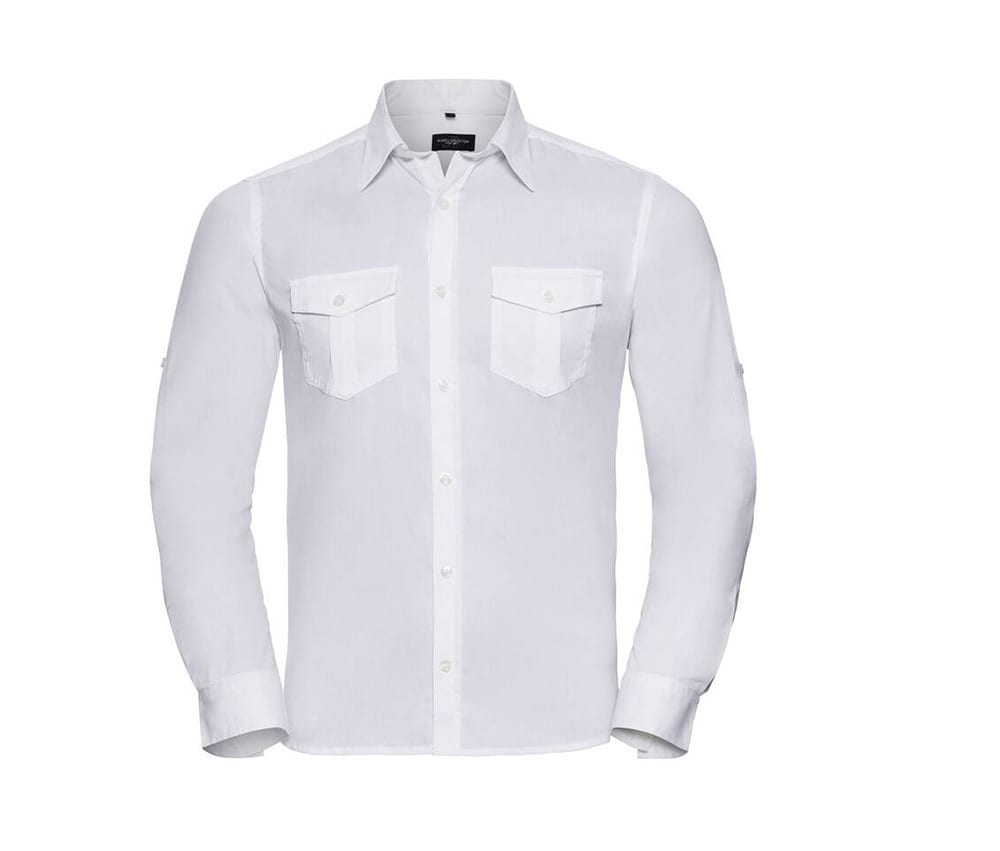 Russell Collection JZ918 - Roll Sleeve Shirt - Long Sleeve