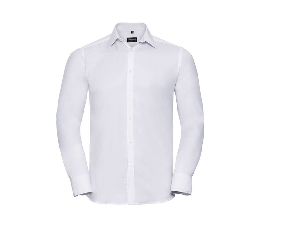 Russell Collection JZ962 - Long Sleeve Herringbone Shirt