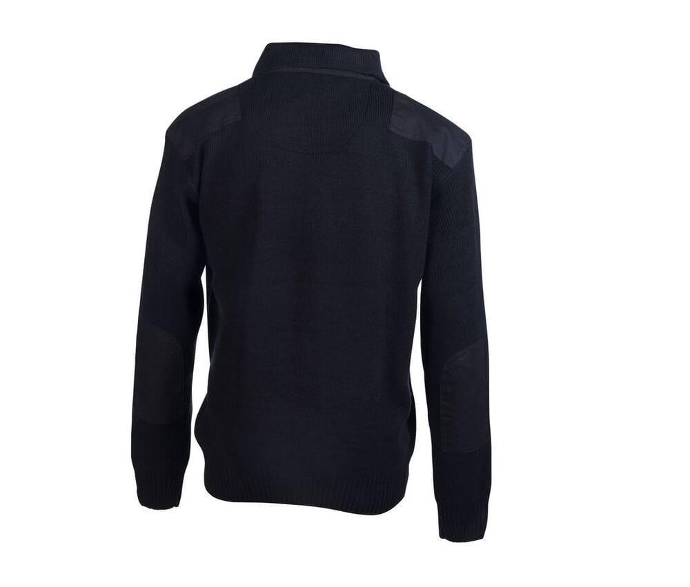 Pen Duick PK400 - Sweat-Shirt Homme Col Zippé 100% Laine Polaire