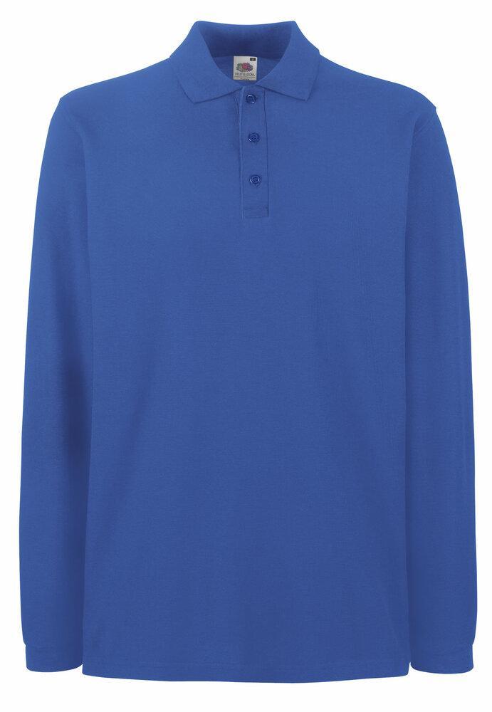 Fruit of the Loom SC384 - Men's Premium Long Sleeve Polo Shirt