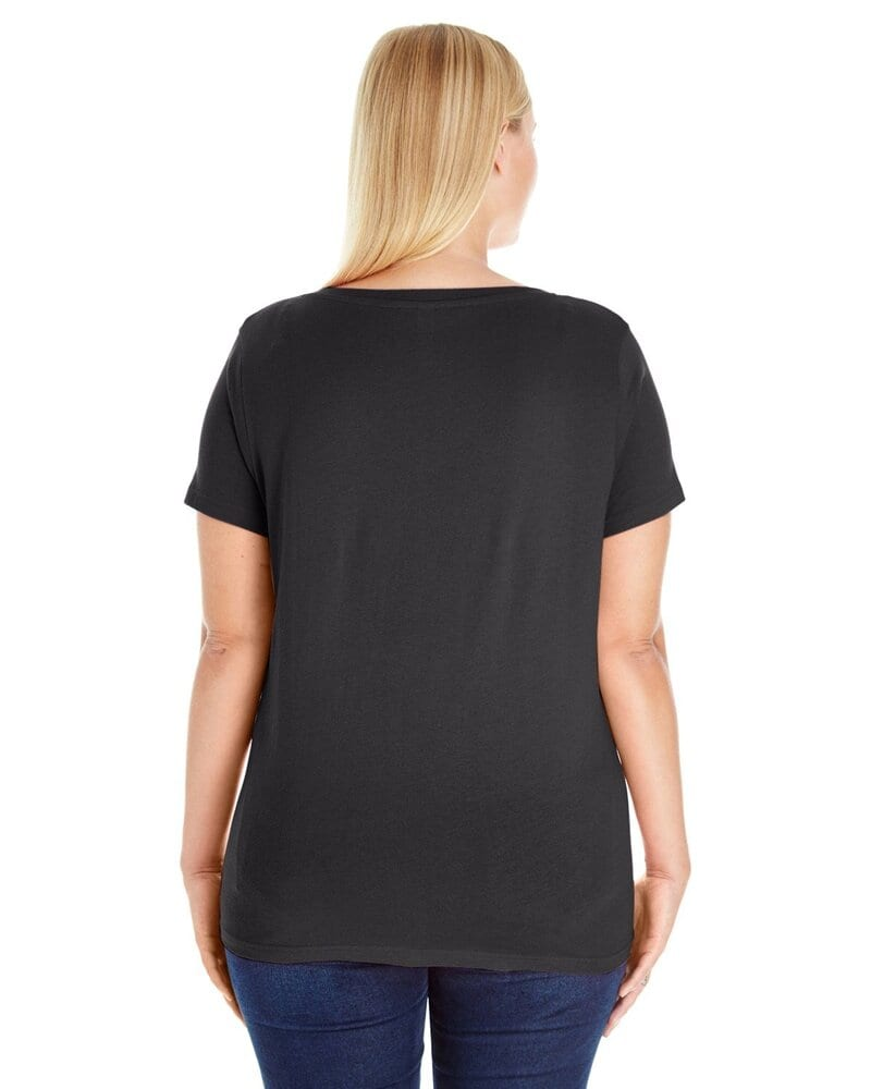 LAT 3807 - Ladies' Curvy V-Neck Tee