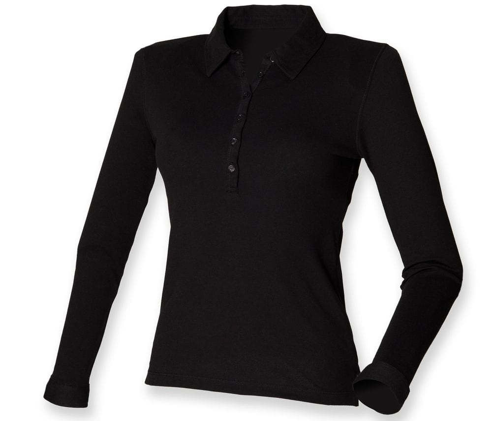 Skinnifit SK044 - Polo femme stretch manches longues