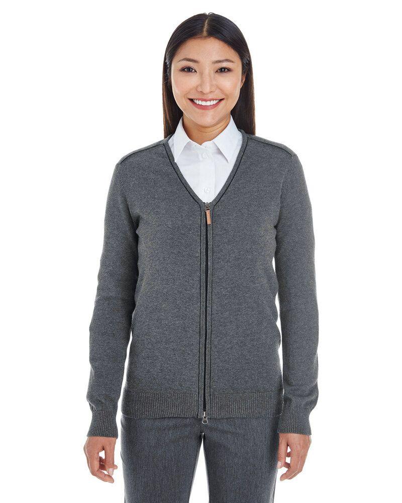 Devon & Jones DG478W - Ladies Manchester Fully-Fashioned Full-Zip Sweater