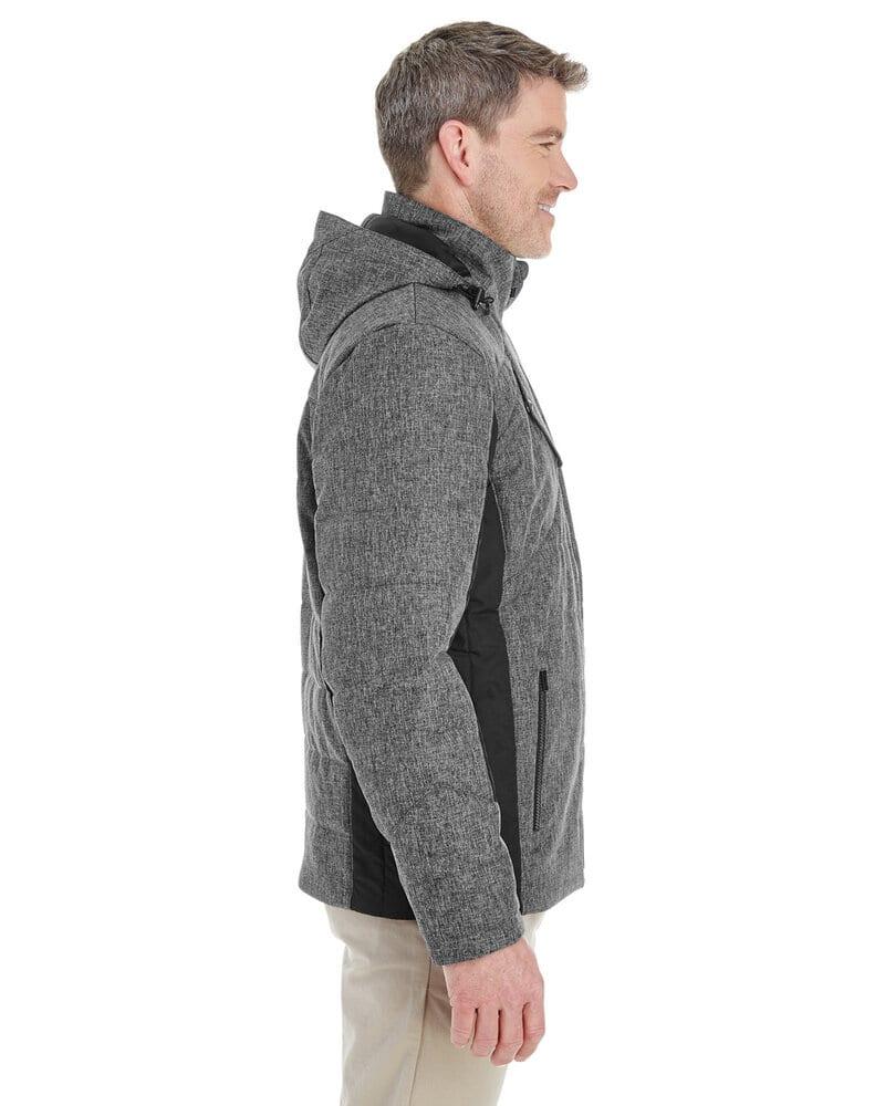 Devon & Jones DG710 - Veste Midtown Insulated Fabric-Block pour homme - Mélange de hachures croisées