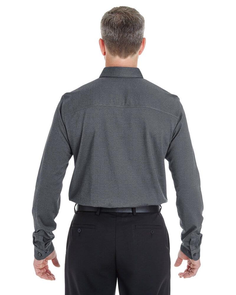 Devon & Jones DG230 - Men's Central Cotton Blend Melange Button Down