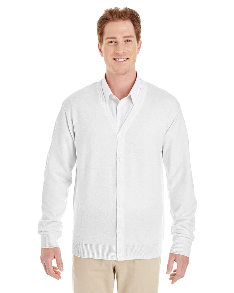 Harriton M425 - Men's Pilbloc™ V-Neck Button Cardigan Sweater
