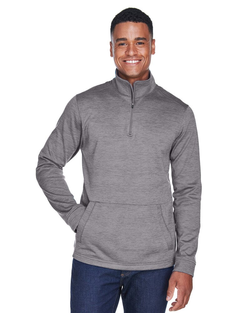 Devon & Jones DG798 - Men's Newbury Mélange Fleece Quarter-Zip