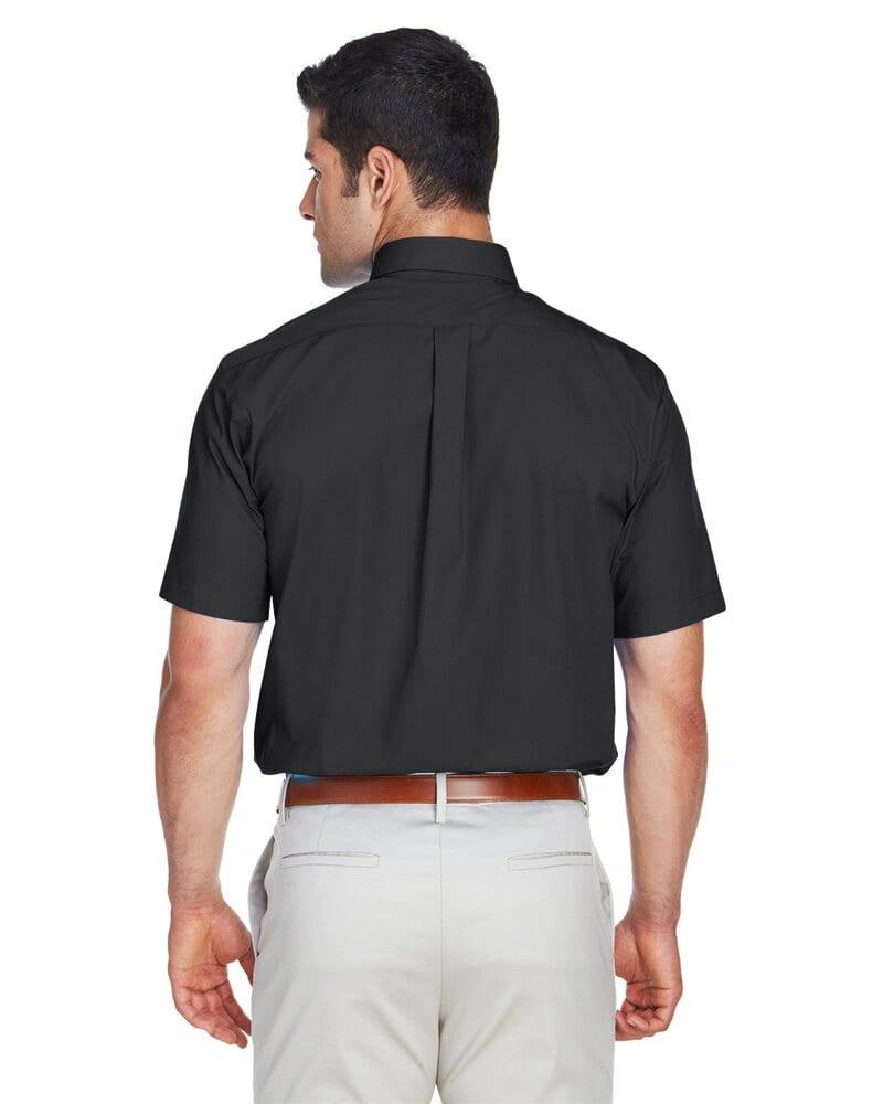 Devon & Jones D620S - Chemise à manches courtes en tissu Broadcloth solide de Crown Collection pour homme