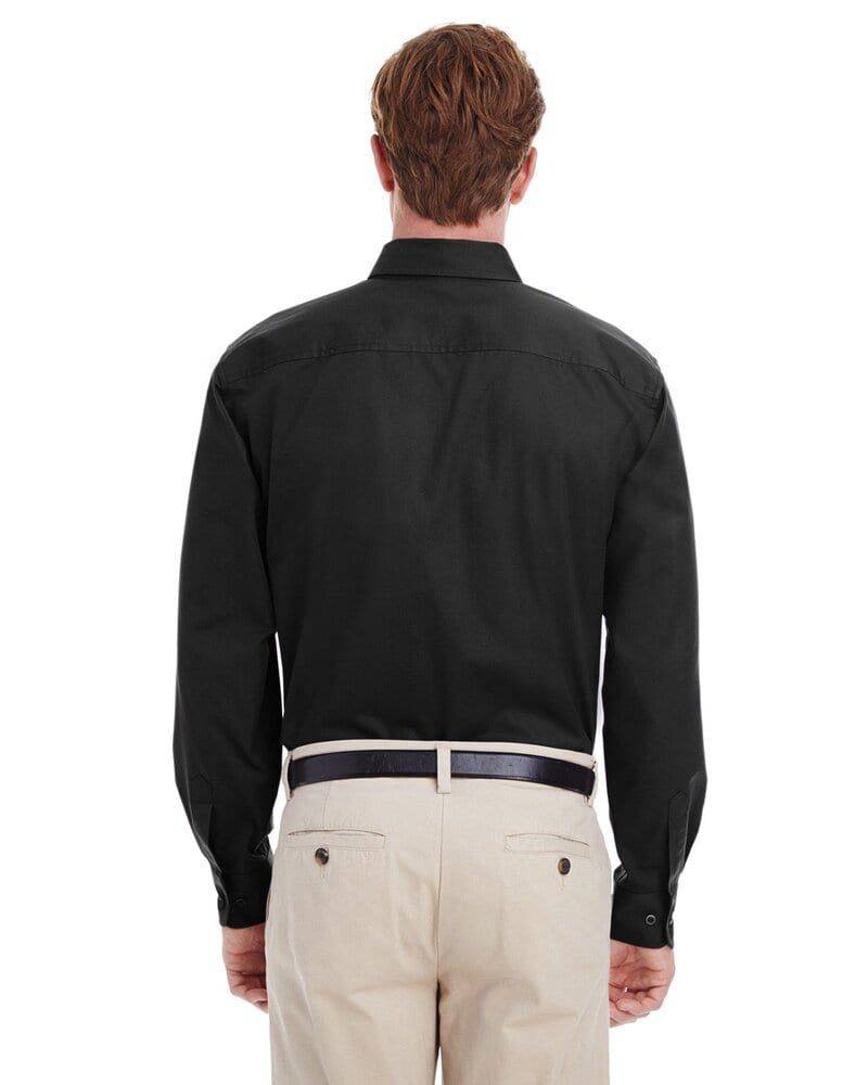 Harriton M581 - T-Shirt Hommes Foundation 100% coton à manches longues