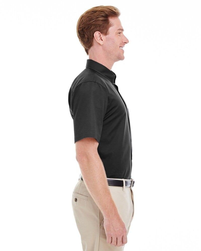 Harriton M582 - Men's Foundation 100% Cotton Short Sleeve Twill Shirt Teflon™