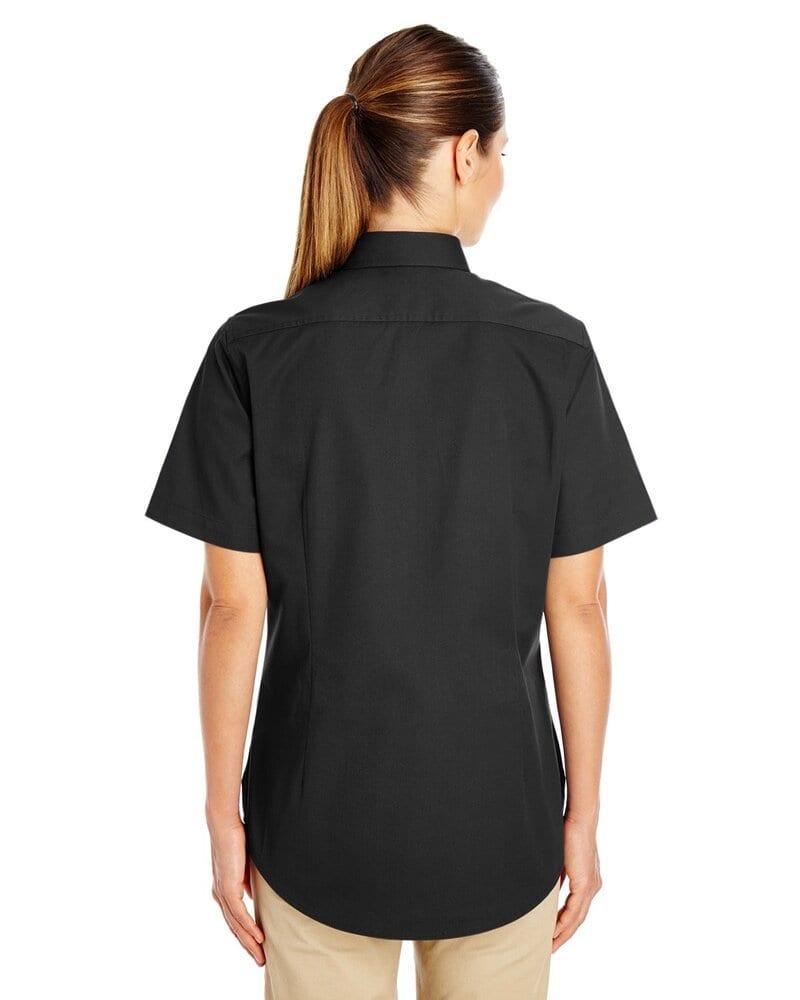 Harriton M582W - Ladies Foundation 100% Cotton Short Sleeve Twill Shirt Teflon™