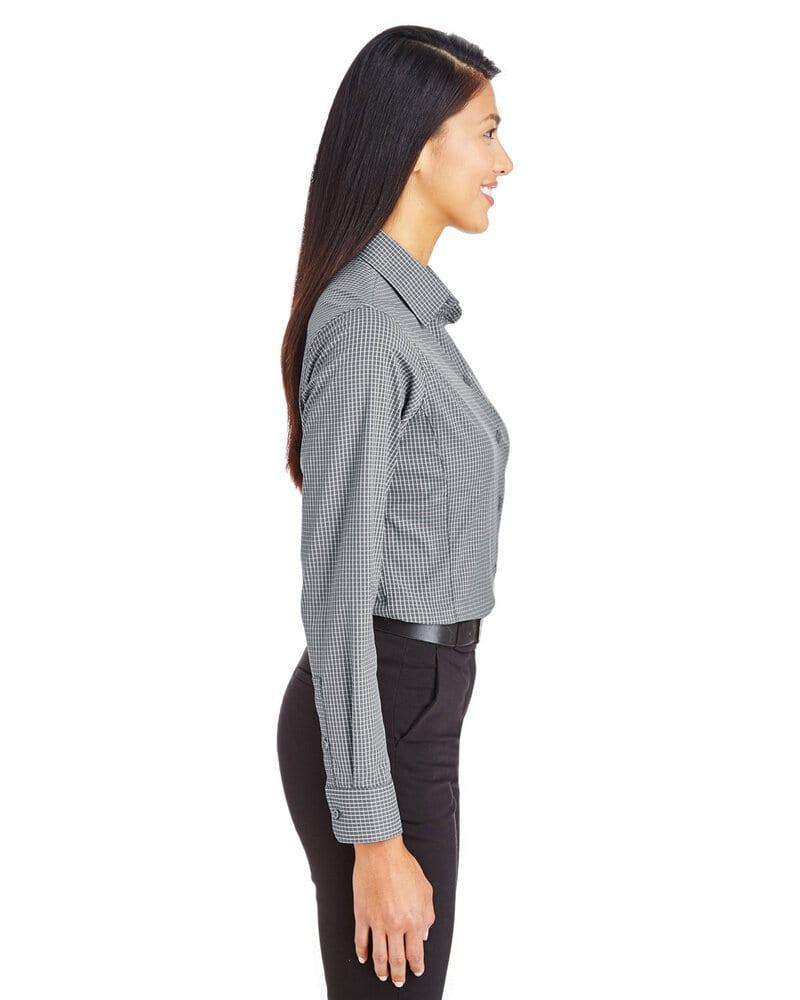 Devon & Jones DG535W - Ladies CrownLux Performance™ Tonal Mini Check Shirt