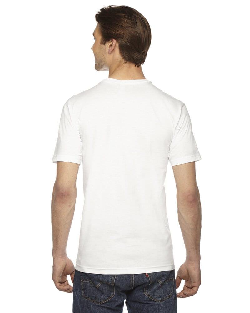 American Apparel 2456W - T-shirt col V à manches courtes en jersey fin unisexe