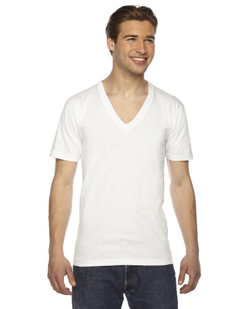 American Apparel 2456W - Unisex Fine Jersey Short-Sleeve V-Neck T-Shirt