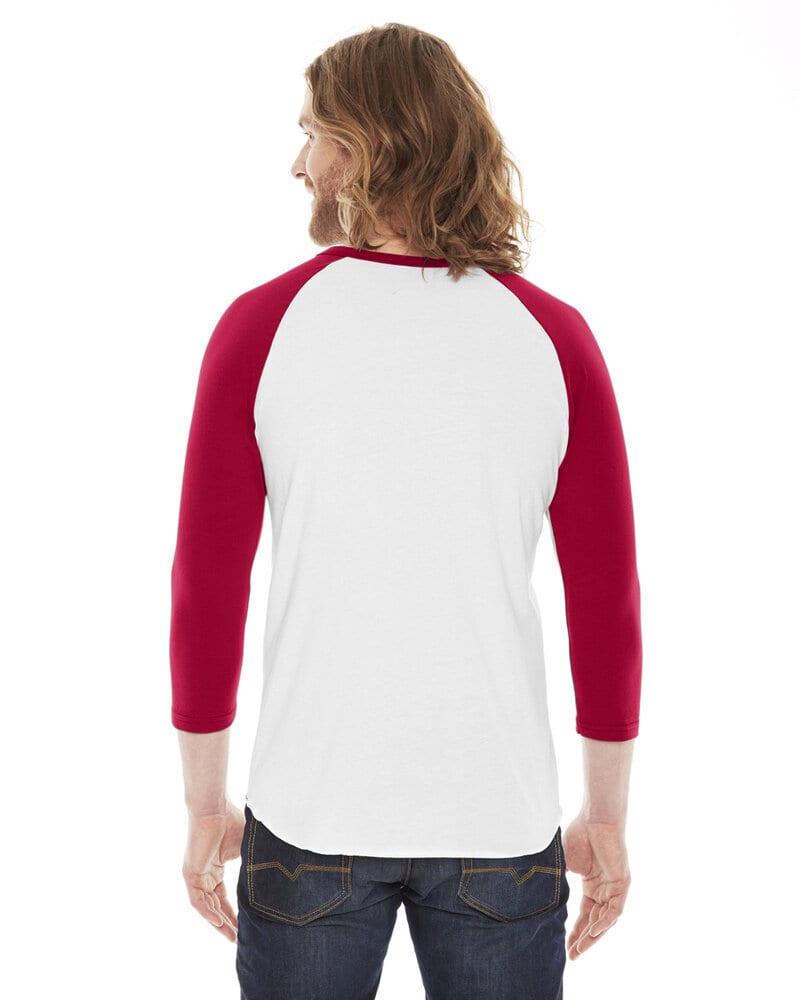 American Apparel BB453W - Unisex Poly-Cotton 3/4-Sleeve Raglan T-Shirt