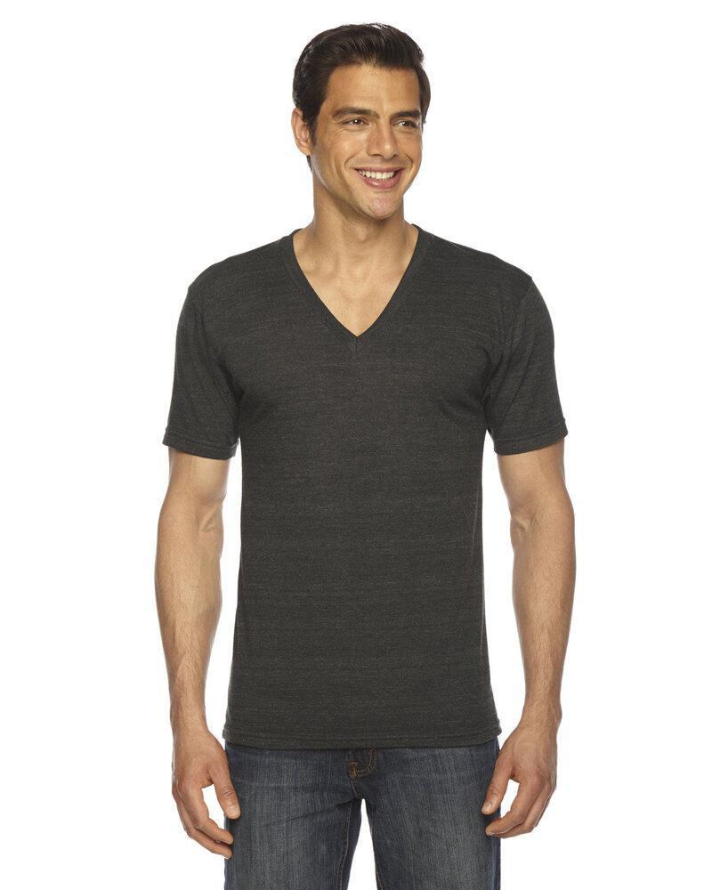 American Apparel TR461W - T-Shirt Col V unisexe Triblend à manches courtes