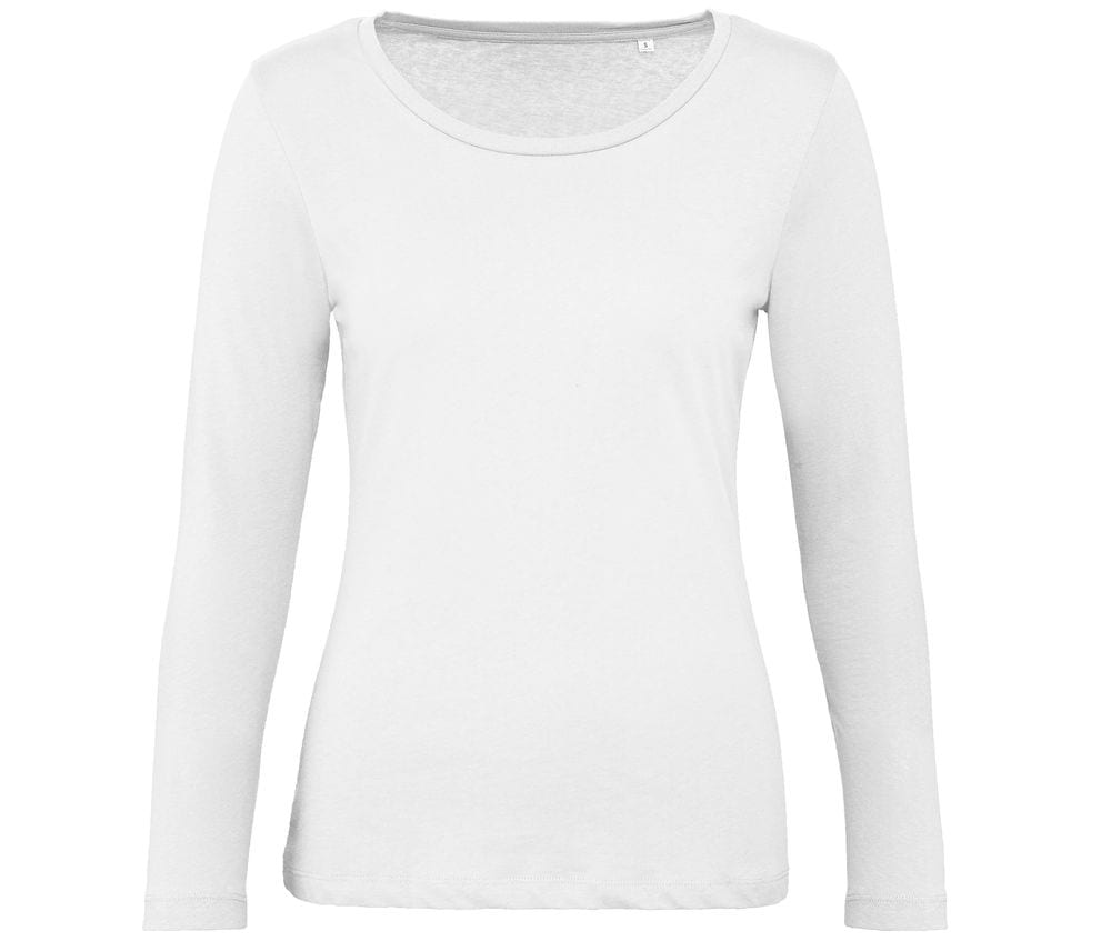 B&C BC071 - Women's Long Sleeve T-Shirt 100% Organic Cotton