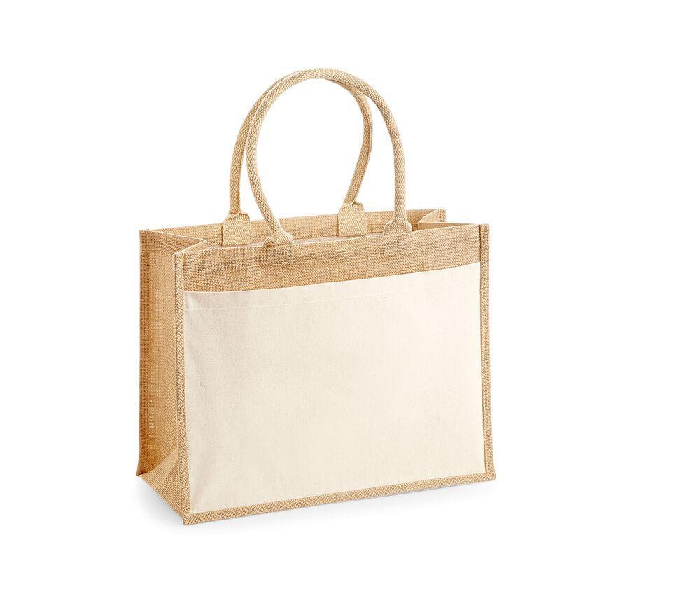 WestFord Mill WM427 - Cotton pucket jute shopper