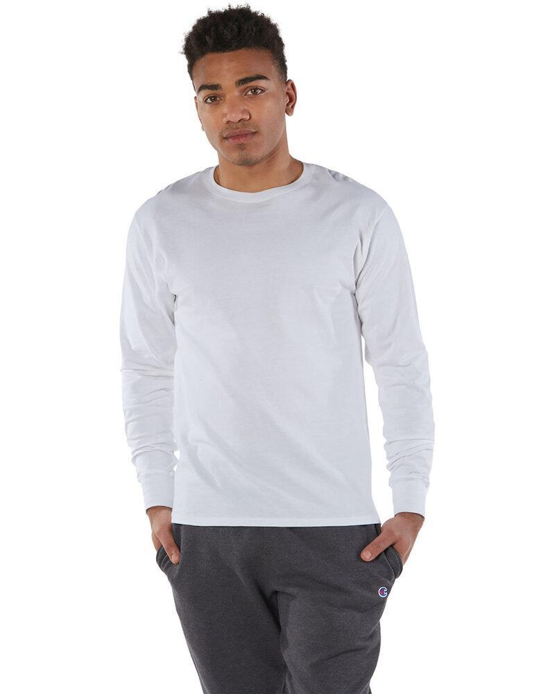 Champion CP15 - T-Shirt à manches longues en coton filé à l'ancienne pour adulte