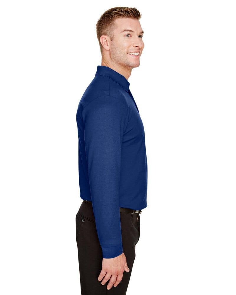 Devon & Jones DG20L - Men's CrownLux Performance™ Plaited Long-Sleeve Polo