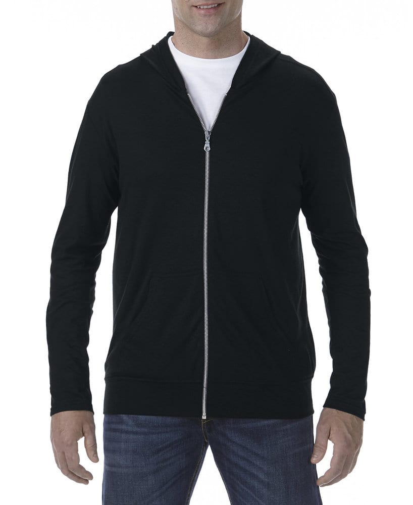 Anvil A6759 - Adult Tri-Blend Full Zip Hooded Jacket