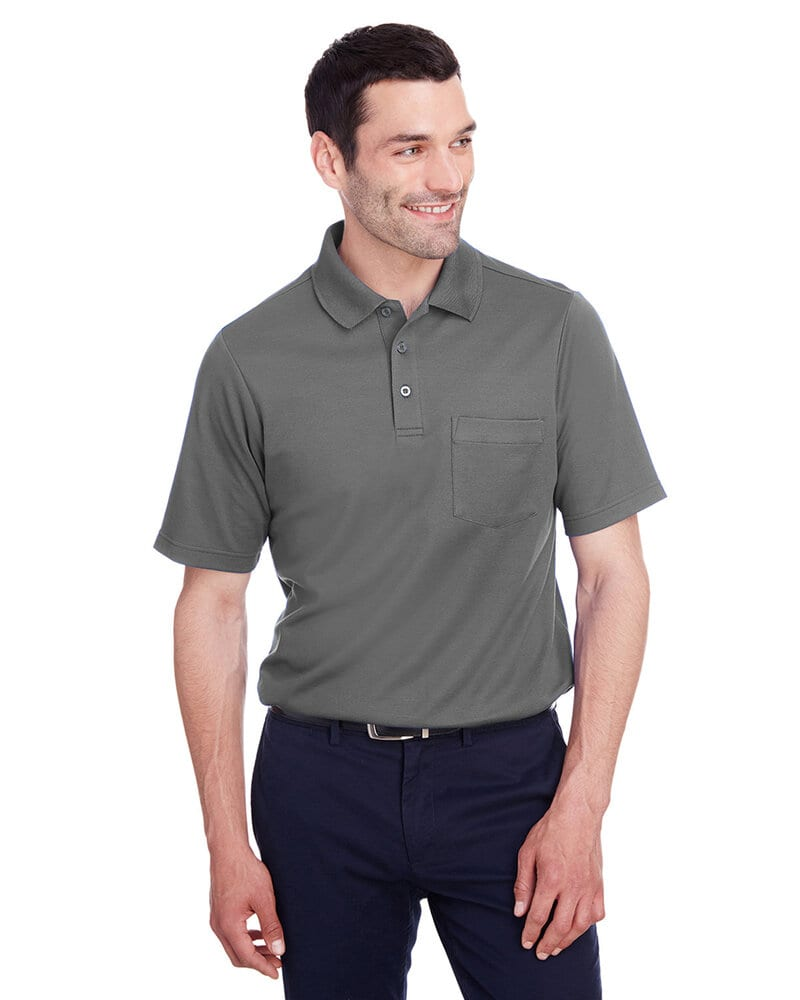 Devon & Jones DG20P - Men's CrownLux Performance Plaited Polo with Pocket