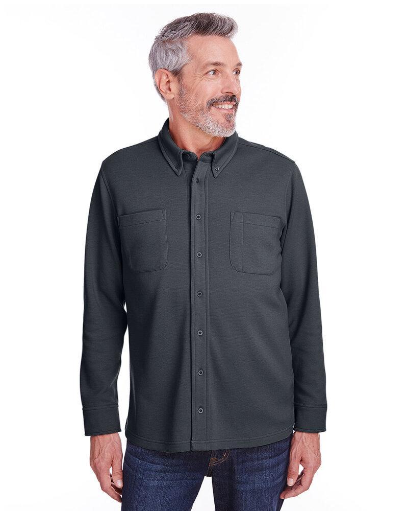 Harriton M708 - Adult StainBloc Pique Fleece Shirt-Jacket