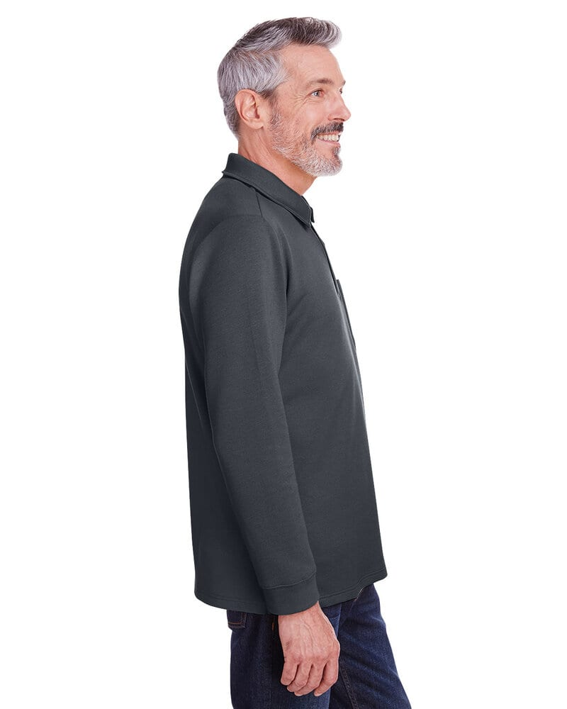 Harriton M709 - Adult StainBloc Pique Fleece Pullover Jacket